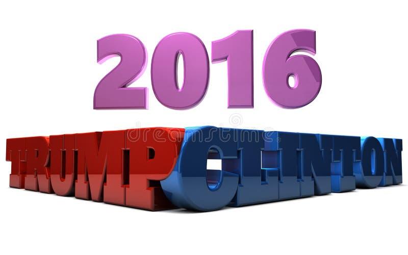 Atut vs Clinton 2016 ilustracja wektor