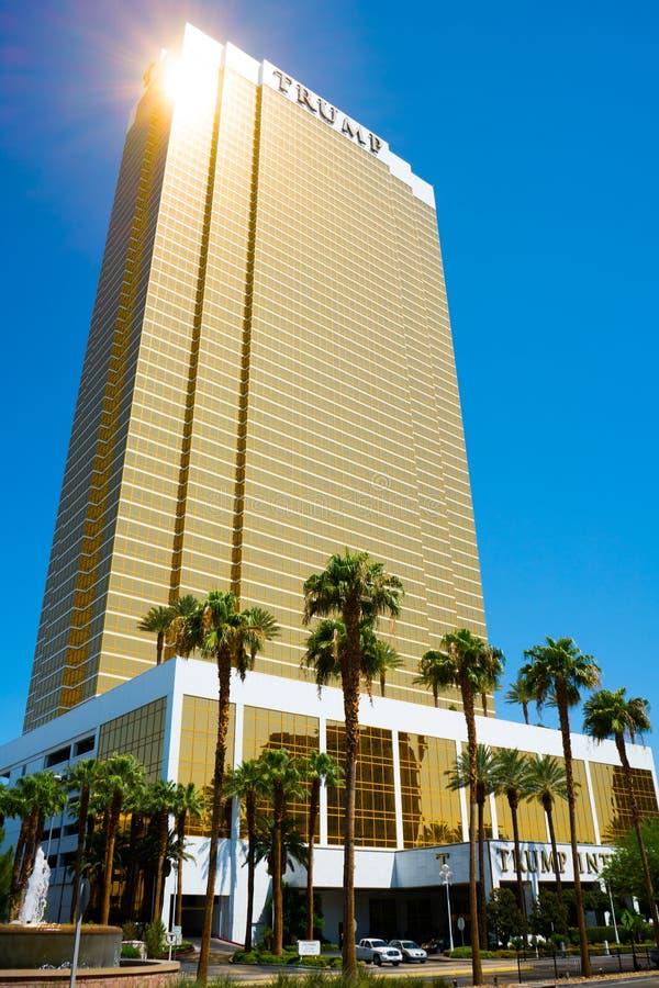 Atutowy Międzynarodowy hotel Las Vegas - Atutowy wierza obrazy stock