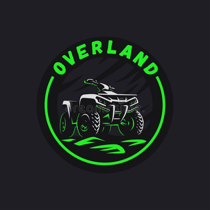 ATV车圈子象征 所有地域的4x4方形字体例证 向量例证