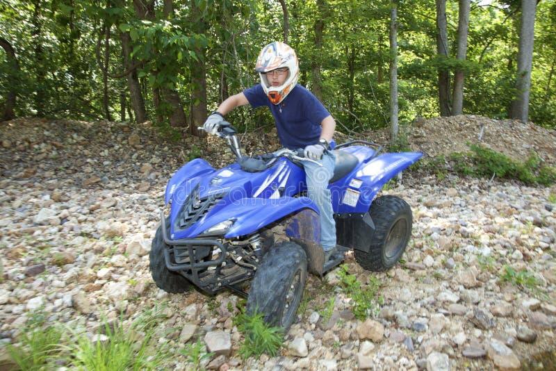 ATV骑马 库存照片