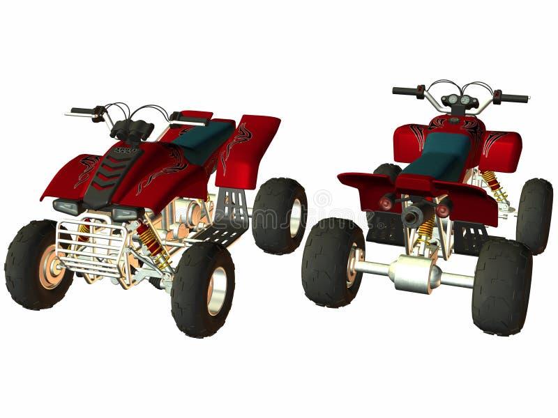 ATV 4x4 ilustración del vector