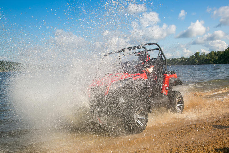 ATV in action royalty free stock photo