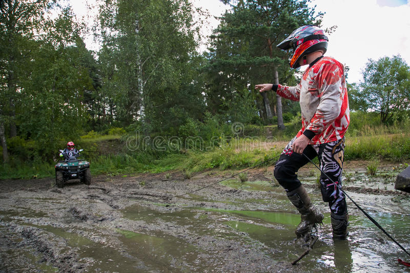 ATV in action stock photography