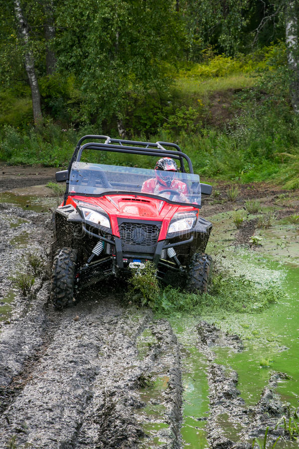 ATV in action royalty free stock image