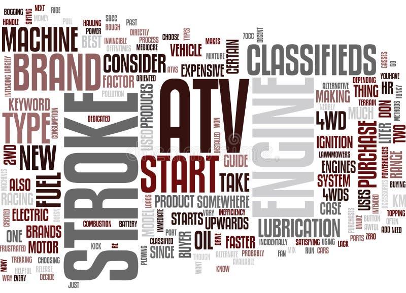 Atv a classifié le concept de nuage de Word illustration libre de droits