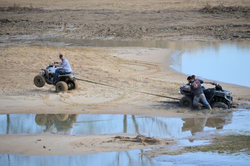 ATV Does Wheelie stock photography
