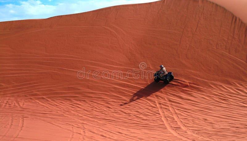 ATV jeżdżenie przy Namib pustynią, Swakopmund, Namibia zdjęcie royalty free