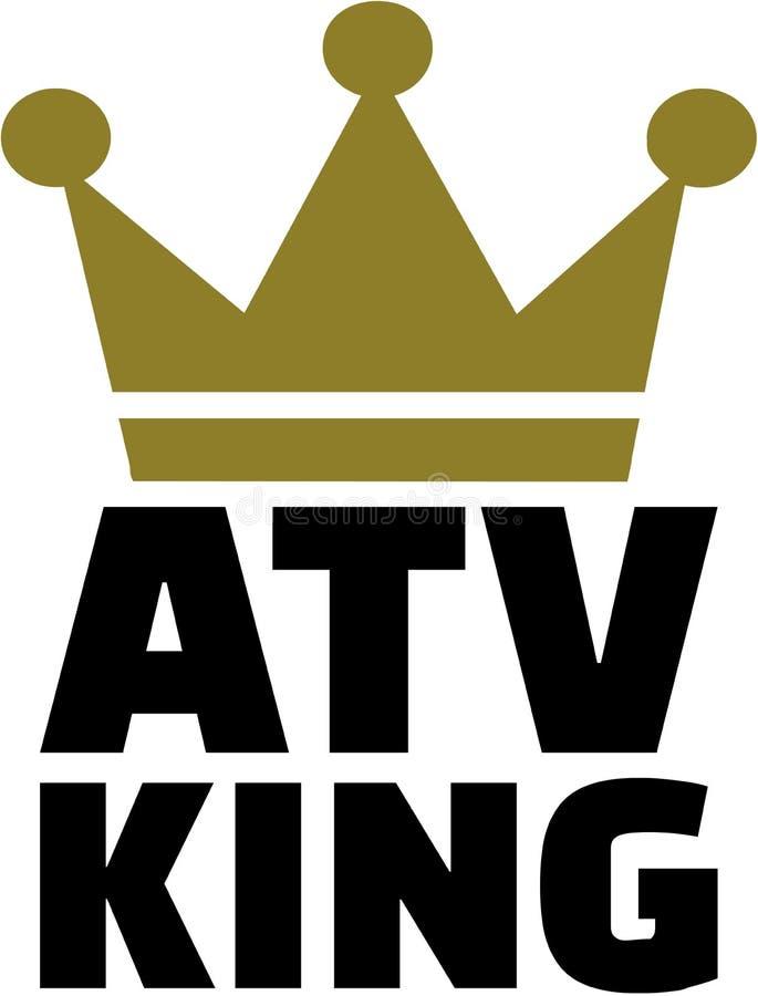 ATV królewiątko z koroną royalty ilustracja