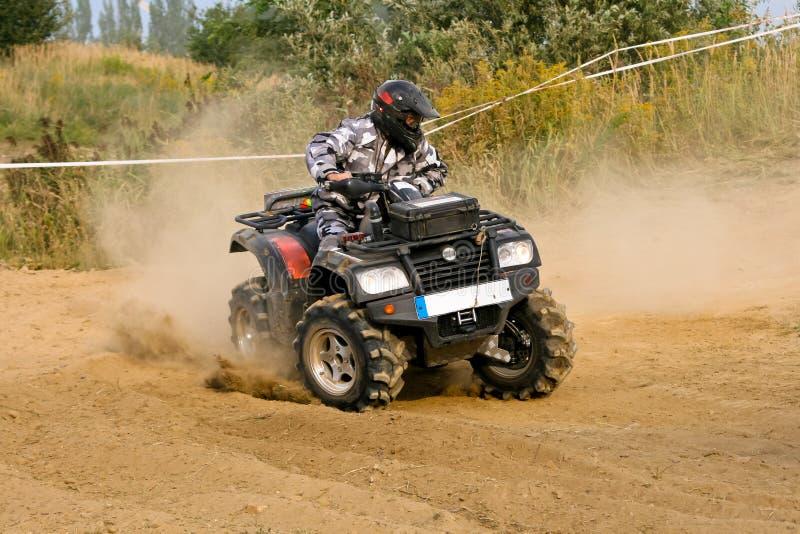 ATV-kvadrat Racing arkivbilder