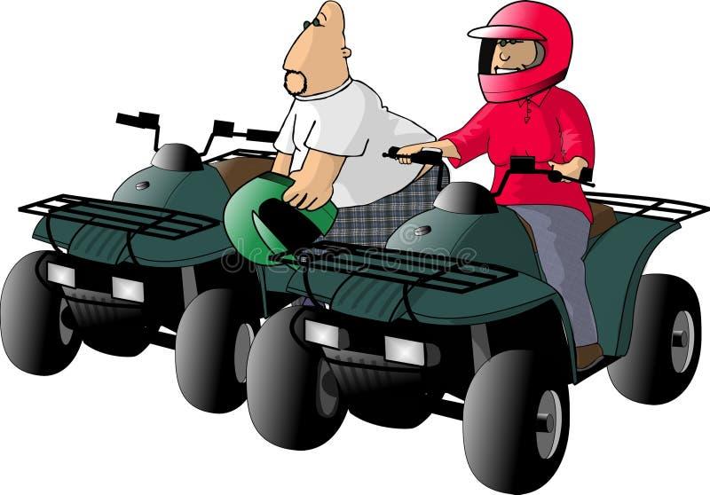 Download ATV Mitfahrer stock abbildung. Illustration von kerl, dame - 42103