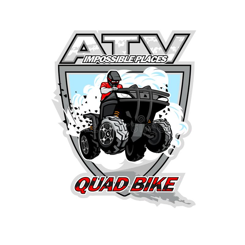 ATV Quad Bike, Impossible places royalty free stock photo