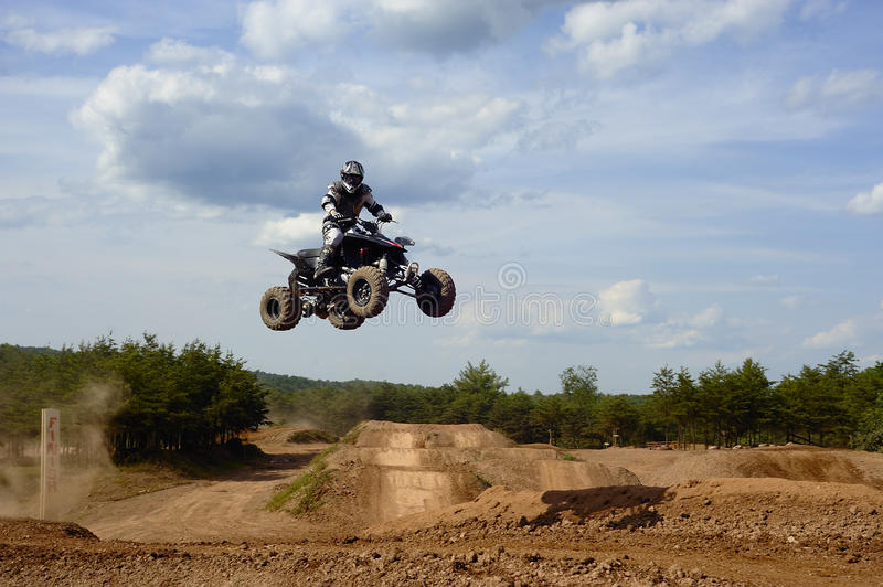 Atv rider 2 Jumping stock photography