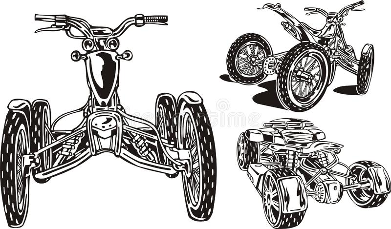 Download ATV Riders 16. stock vector. Illustration of engine, offroad - 14459688