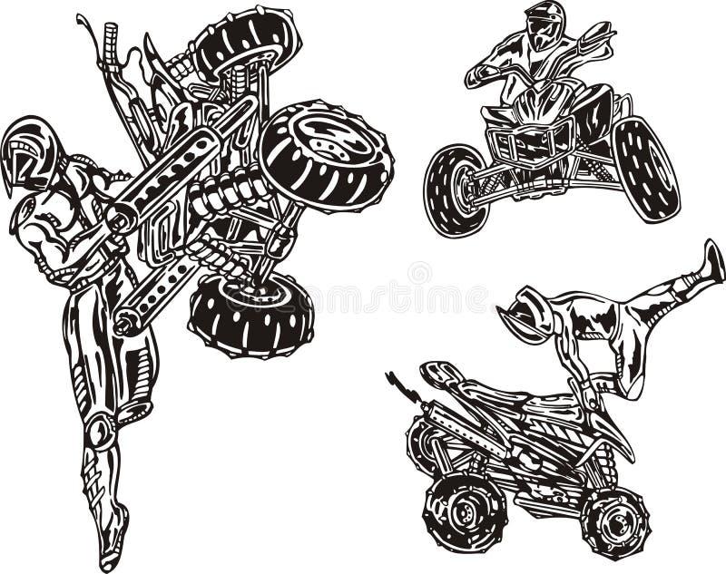 Download ATV Riders 2. stock vector. Illustration of helmet, quadbike - 14459608