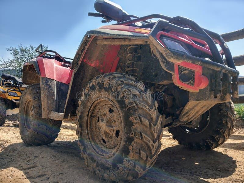 ATV, vista inferior, close-up imagens de stock royalty free