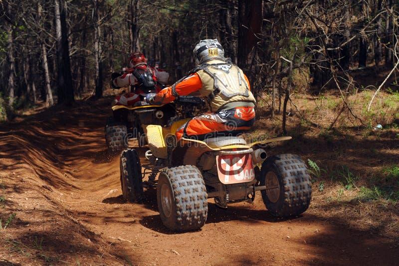 ATV Woods Racing Stock Images