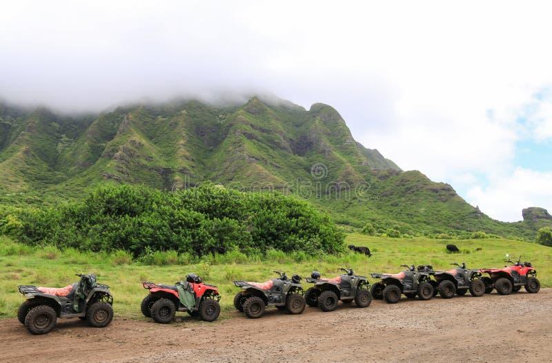 ATVs en fila fotos de archivo
