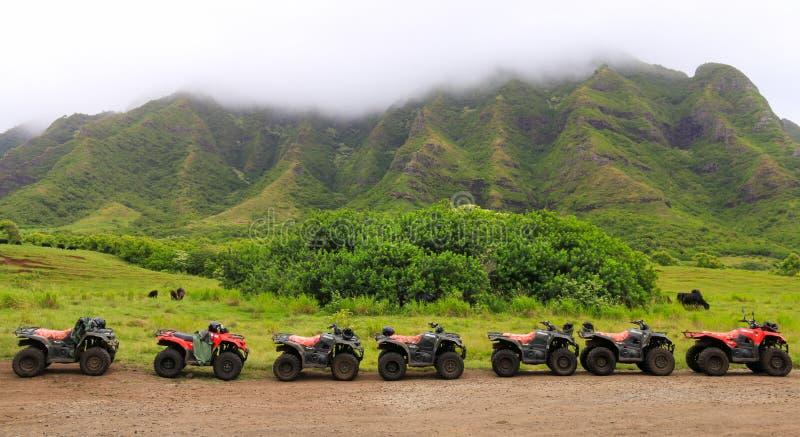 ATVs in Folge lizenzfreies stockfoto