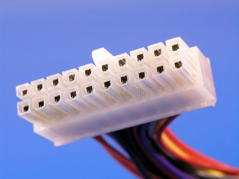 Download ATX Motherboard Power Connector Stock Image - Image: 201101