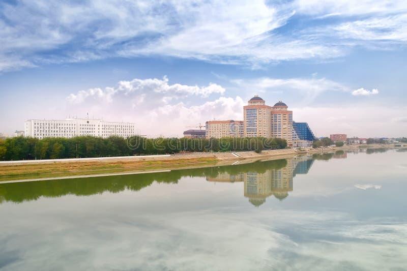 Atyrau. Miejski krajobraz zdjęcia royalty free