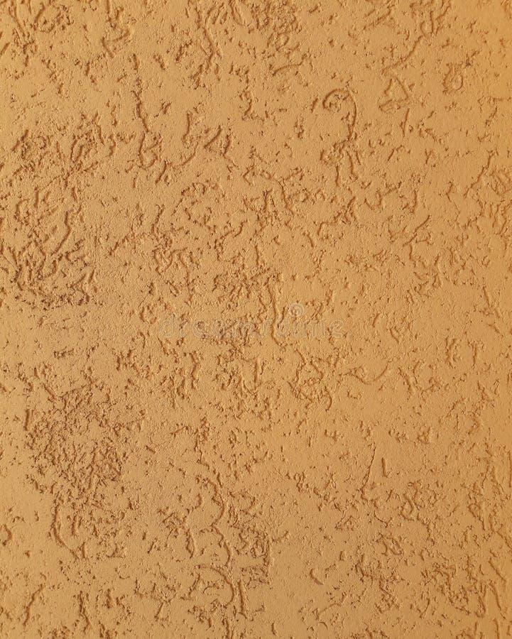 außen Dekorativer Beschaffenheitsaußengips Gelber, beige Farbhintergrund stockfotos