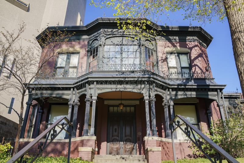 Außenansicht des Byers-Evans-Haus-Museums lizenzfreie stockfotos