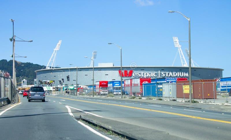 Außenansicht des Westpac Stadium stockbilder