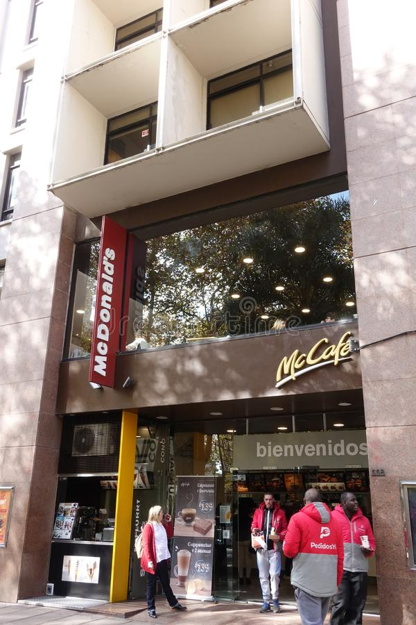 Außenansicht von einem McDonalds lizenzfreies stockbild