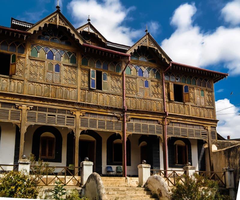 Außenansicht zu Rimbaud-Haus und zum Museum, Harar, Jugol, Äthiopien stockfotografie