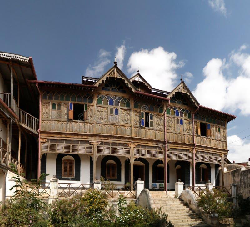 Außenansicht zu Rimbaud-Haus und zum Museum, Harar, Jugol, Äthiopien stockfoto