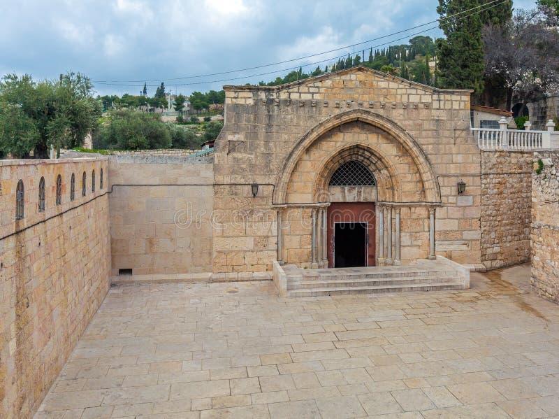 Außengrab von Jungfrau Maria, das Kidrontal, Jerusalem lizenzfreie stockfotografie