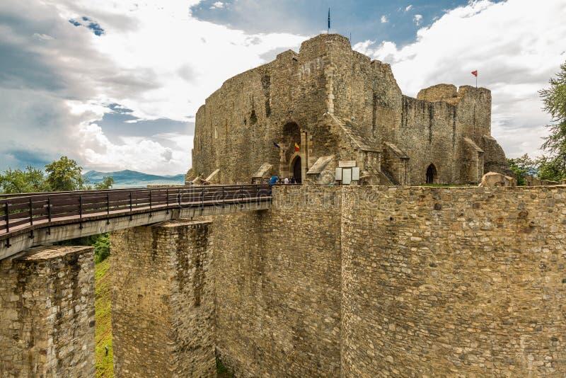 Außenwände von Neamt-Festung stockfoto