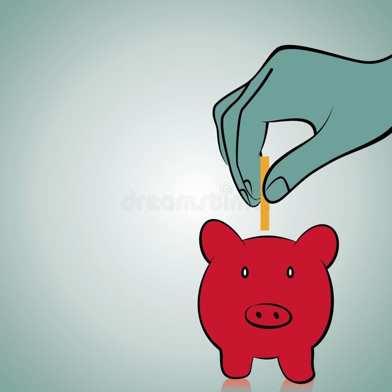 Download Außer Geldkonzept vektor abbildung. Illustration von behälter - 27725466