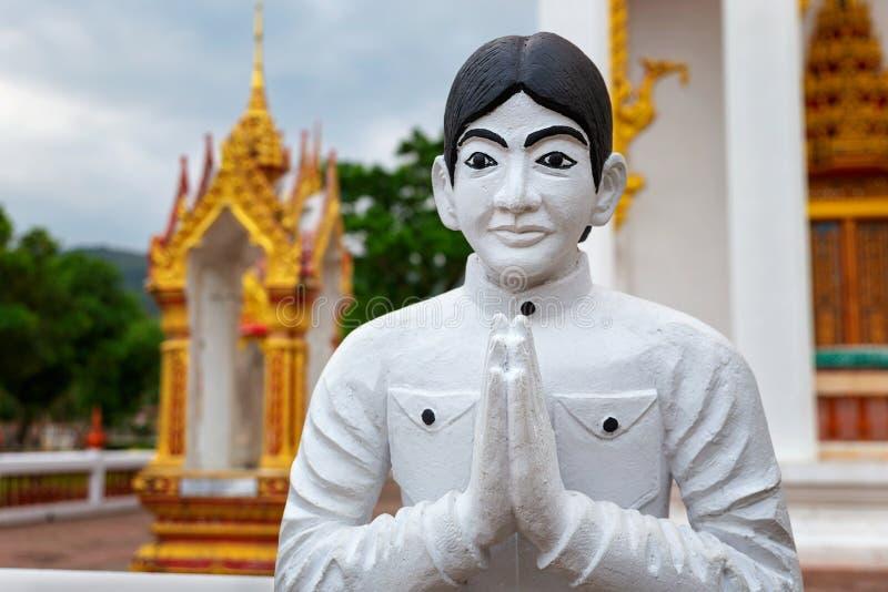 Außerhalb Chalong-Tempels Phuket, Thailand stockbilder