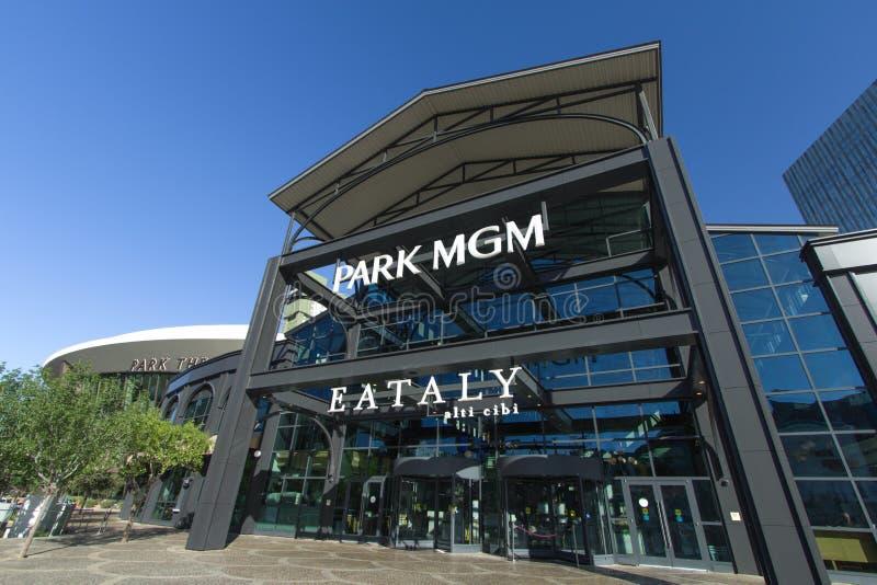 Außerhalb von Park MGM in Las Vegas Nevada lizenzfreie stockfotografie