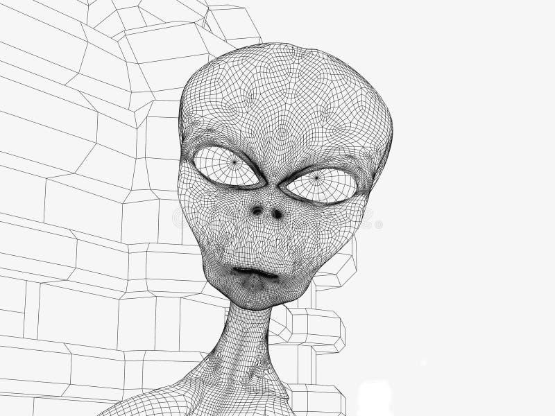 Außerirdischekopf lizenzfreie stockfotografie