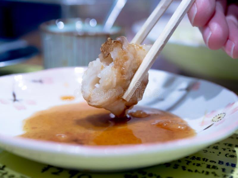Au надевает еду Японии стоковое изображение