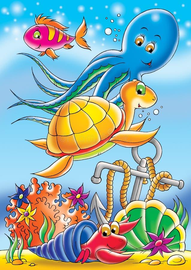 Au bas de la mer illustration libre de droits
