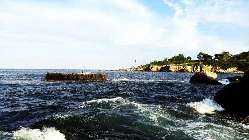 Au cap Elizabeth, Maine photo libre de droits