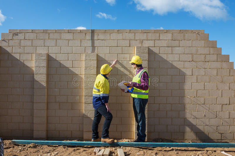 Au chantier de construction photo stock