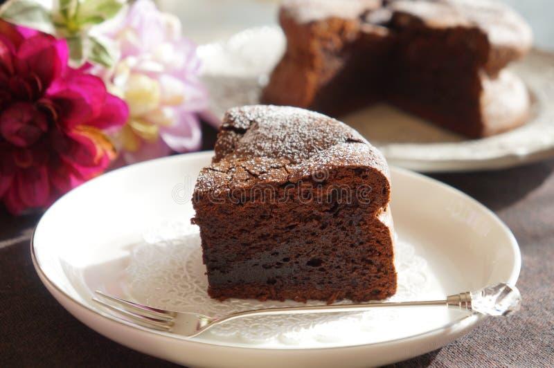 Au Chocolat de gâteau image libre de droits