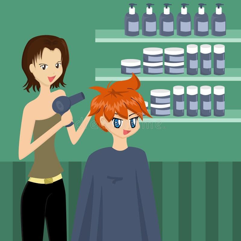 Au coiffeur illustration stock