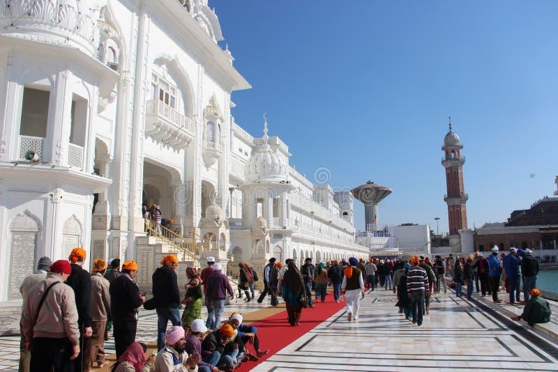 Au complexe d'or de temple à Amritsar photographie stock
