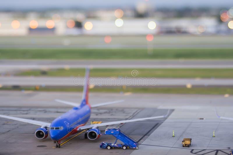 Au début de la matinée terminal de San Jose avec l'effet de décalage de titl image stock
