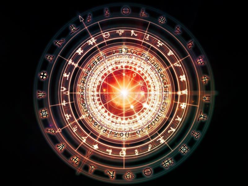 Au delà de la géométrie sacrée illustration de vecteur