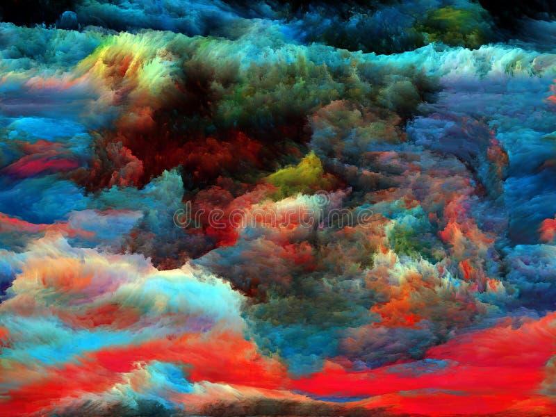 Au delà de la peinture de fractale images stock