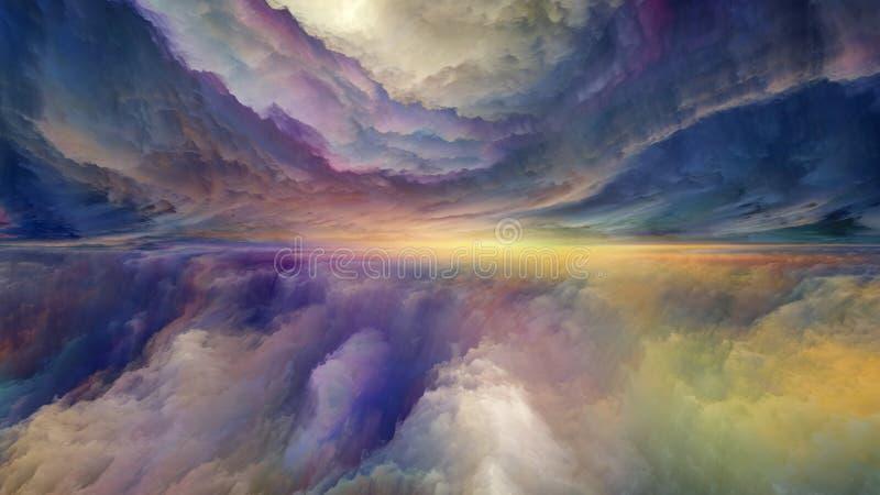 Au delà du paysage abstrait illustration stock