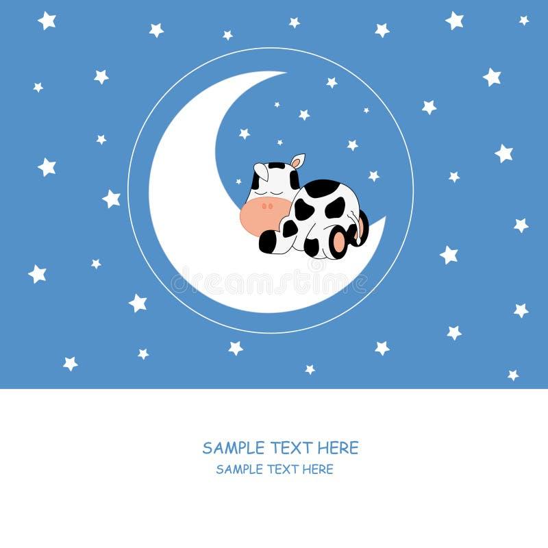 Au-dessus d'une vache à vache à sommeil illustration libre de droits