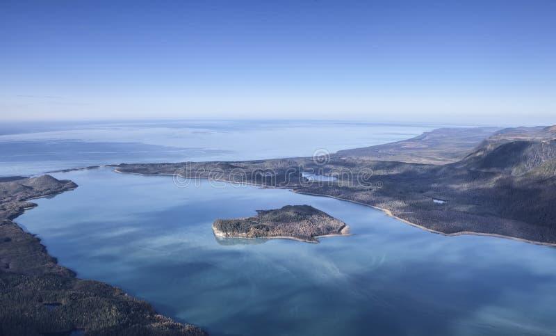 Au-dessus de la baie de Lituya images stock