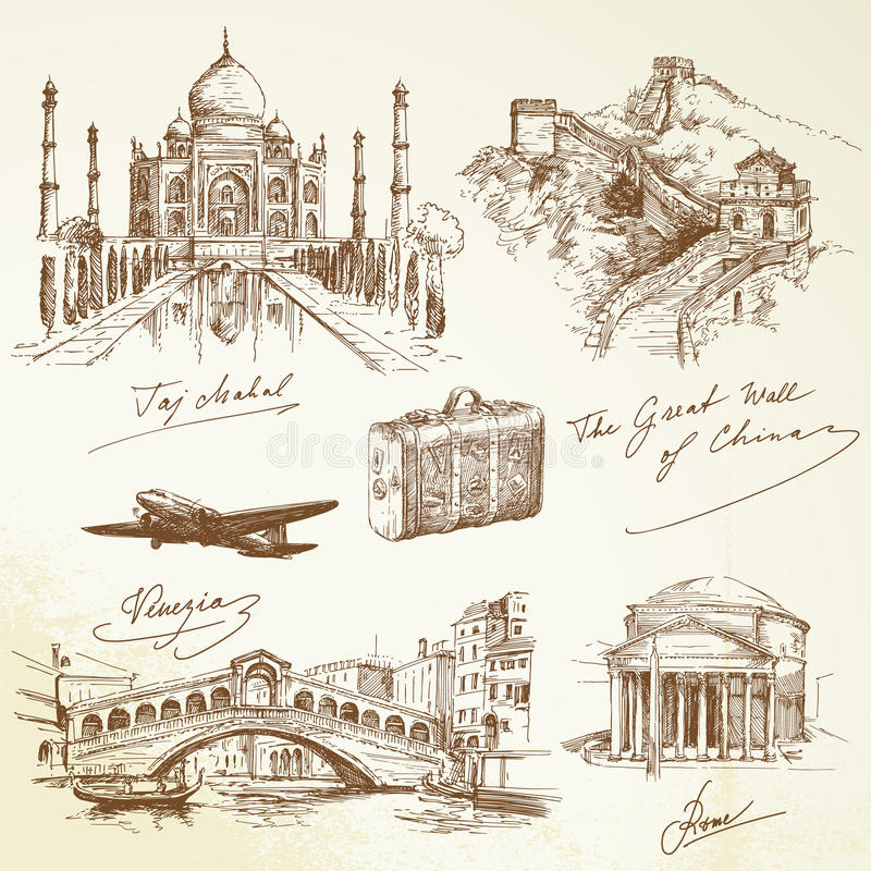 Au-dessus de la course du monde - illustration illustration stock